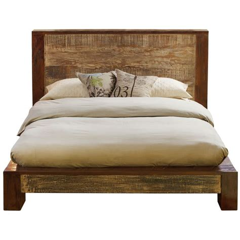 California King Bed Wood Dakota Reclaimed Wood Platform Bed