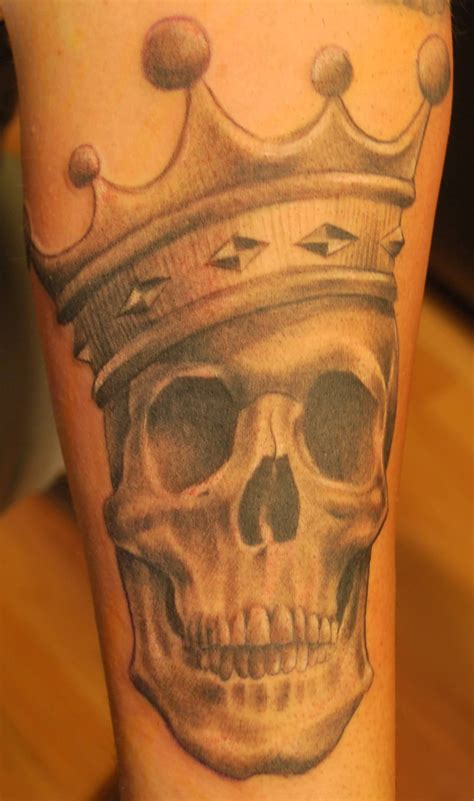 skull with crown tattoo 43 king tattoos