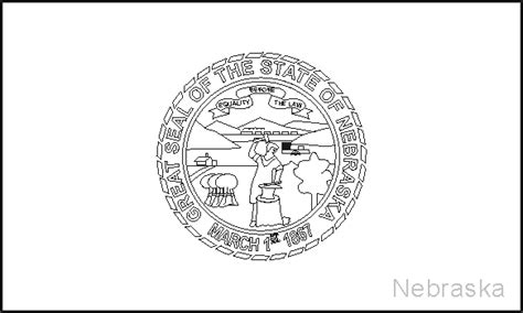nebraska state flag coloring pages usa for kids