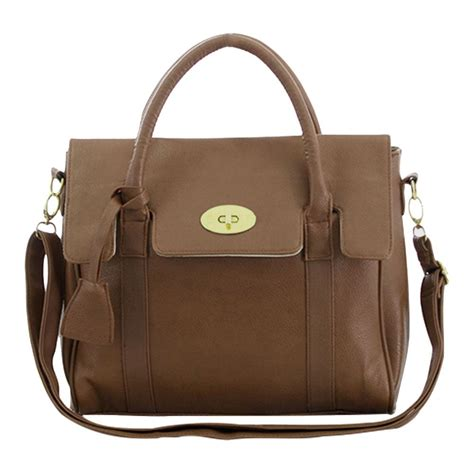Faux Leather Satchel Bag womens designer faux leather shoulder satchel