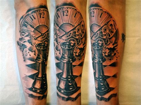 chess tattoos chess make the clock the aniversay date on it