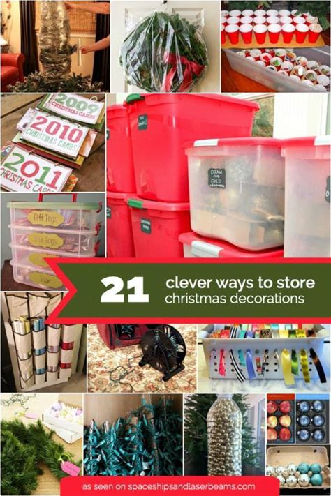 clever ways to store your christmas d 233 cor home and garden
