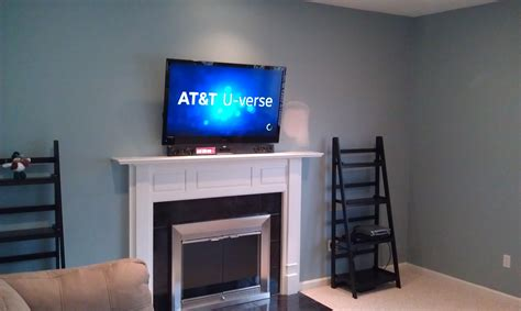 cheshire ct 65 lcd tv over fireplace complete custom generous home theater wire concealment photos electrical