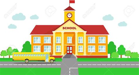clipart school clipart school building pencil and in color