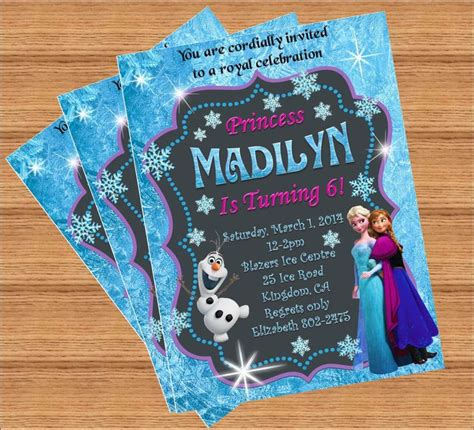 Frozen Handmade Invitations - 17 best images about ideas disney s frozen invites