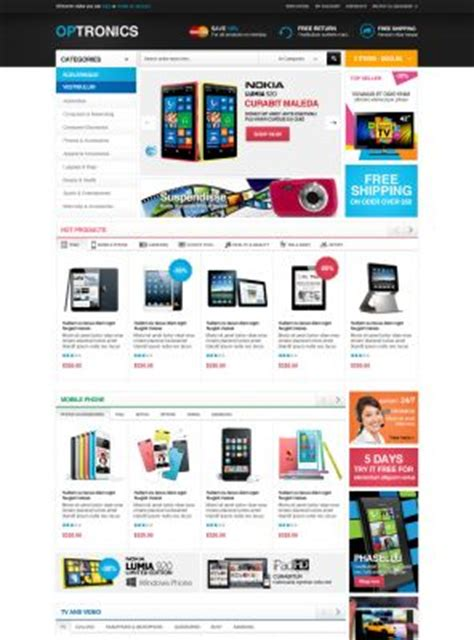 opencart template opencart templates opencart themes showcase themes