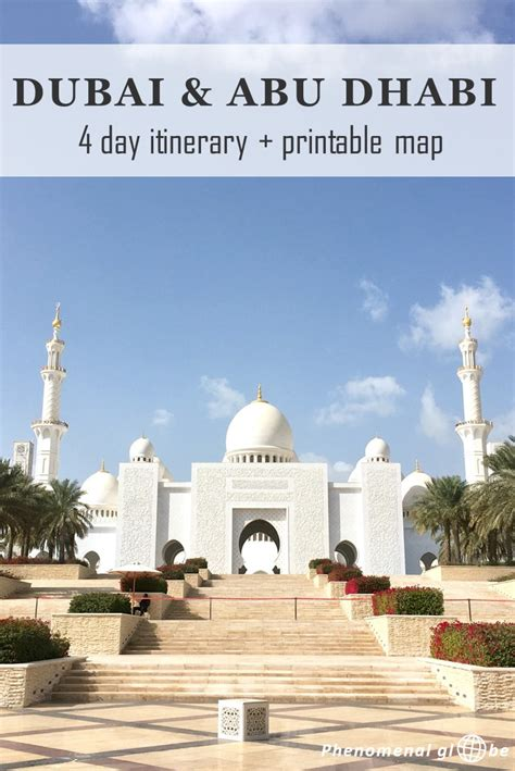 dubai to abu dhabi map 4 day itinerary for dubai and abu dhabi a complete guide