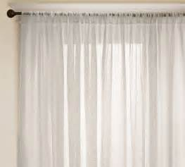 Sheer Window Curtains Linen Sheer Drape Contemporary Curtains By Pottery Barn
