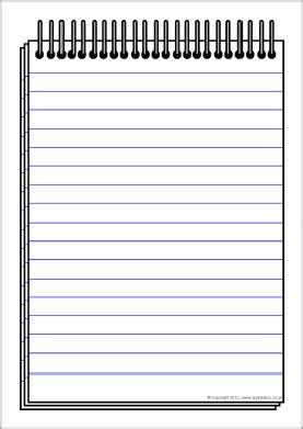 image gallery notepad template