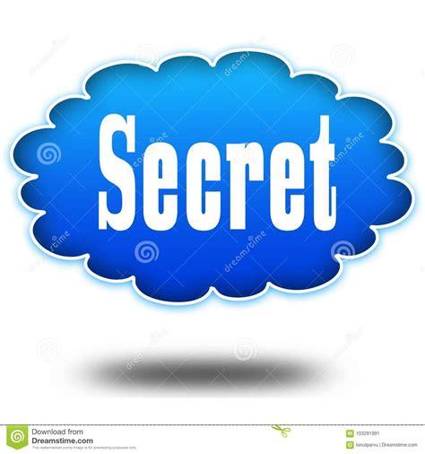 secret text message secret text message on hovering blue cloud stock