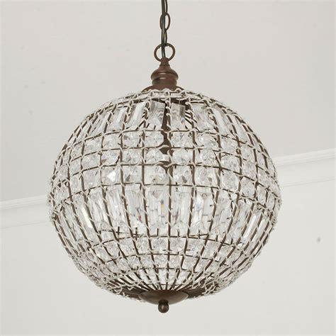 deckenleuchte kugel kugelle cristal mit kristallen d34cm antik braun