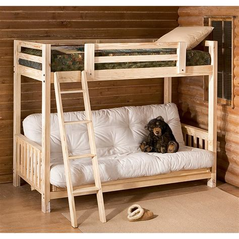 futon bunk bed  bedroom furniture  sportsmans guide