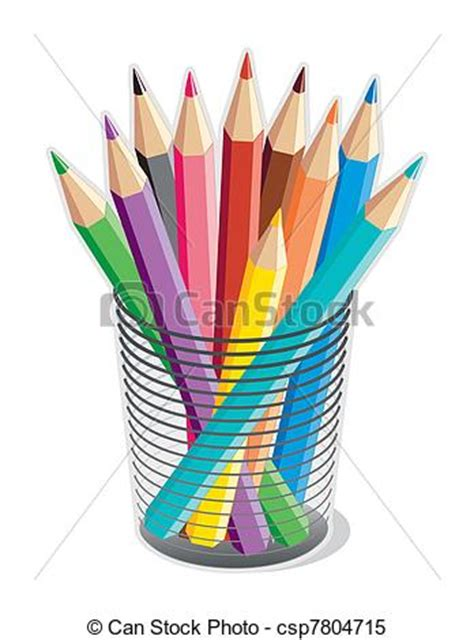 Notice Clipart School Background Pencil And In Color by Clipart Vector Of Colored Pencils Collection Of 10