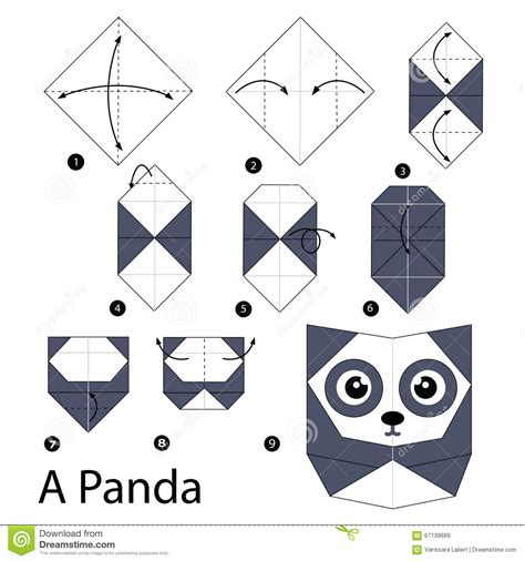 How To Make An Origami Panda - step by step how to make origami a panda