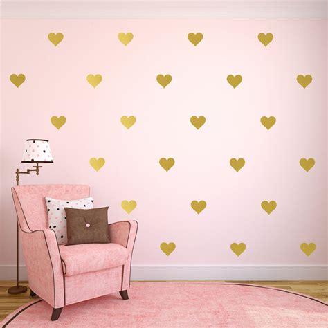 kids polka dot vinyl wall decals polka dot decals bedroom 1piece gold heart butterfly stars wall decals gold polka