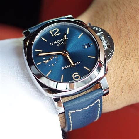 Panerai Luminor Gmt Blue Pam 688 Rosegold Blue Calf 188 best images about watches on messi gold and luxury watches