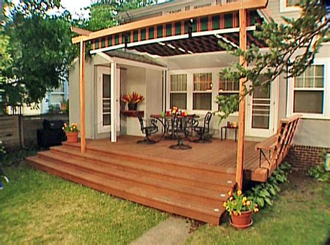 how to build a awning over a deck 20 ways to create instant shade for your outdoor room