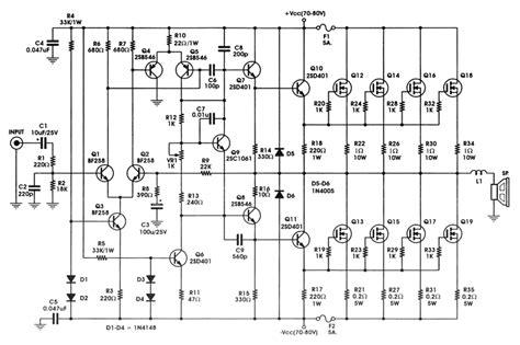 Power Lifier Ocl 400 Watt rangkaian power lifier mosfet 400 watt irfp448 187 skemaku