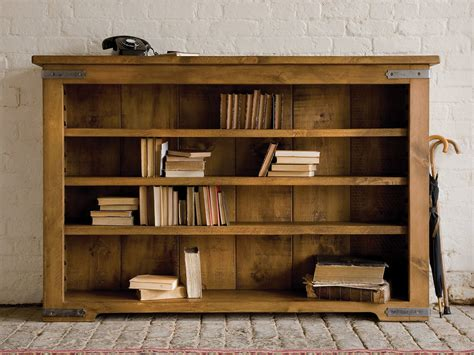 terrific unfinished oak low bookcase stones floors