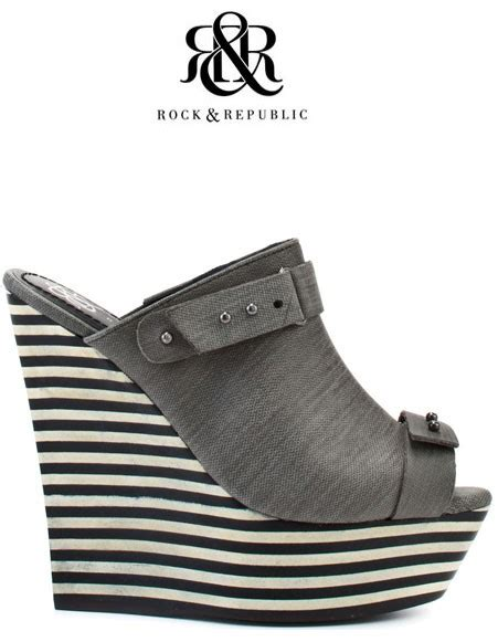Rock Republic Hilary Striped Wedge by Rock And Republic Grace Wedge Shoe
