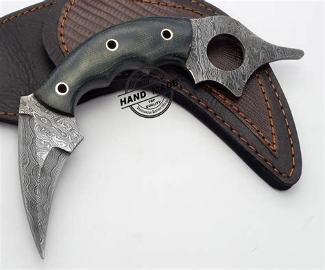 custom karambit knife damascus karambit edge custom handmade damascus