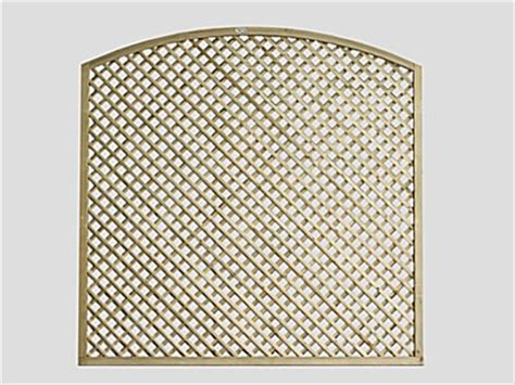 Curved Fence Top Trellis Continental Trellis Curved Lattice Trellis Fence Panel Pennine Fencing Landscaping