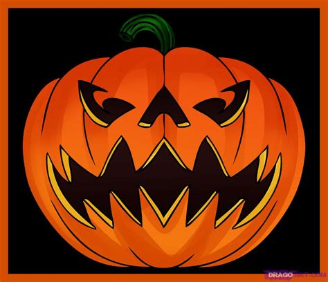 how to draw a jack o lantern step by step halloween seasonal halloween pinterest