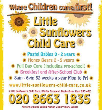 little sunflower child care advertising exles at