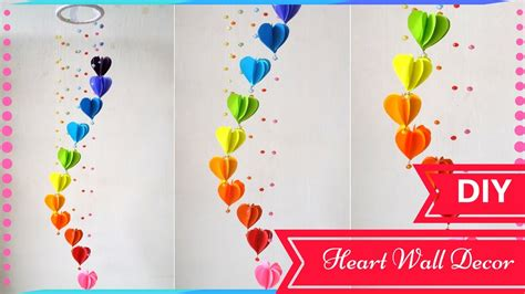 How To Make Wall Decoration At Home by Diy Wall Decor Ideas For Valentines Day Heart Decors In