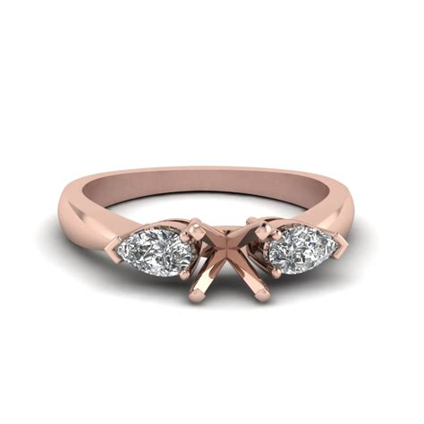 Three Engagement Ring by And Pear 3 Engagement Ring In 14k