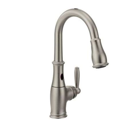moen motionsense kitchen faucet moen brantford single handle pull down sprayer kitchen