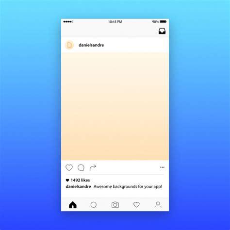 layout instagram descargar maqueta de la plantilla del post de instagram descargar