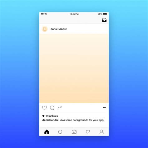 instagram pattern background app instagram投稿テンプレートのモックアップ ベクター画像 プレミアムダウンロード