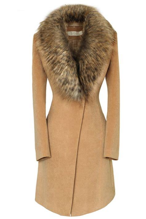 Jaket Overside Dropshoulder Neck Zipper oversize faux fur collar slim coat oasap