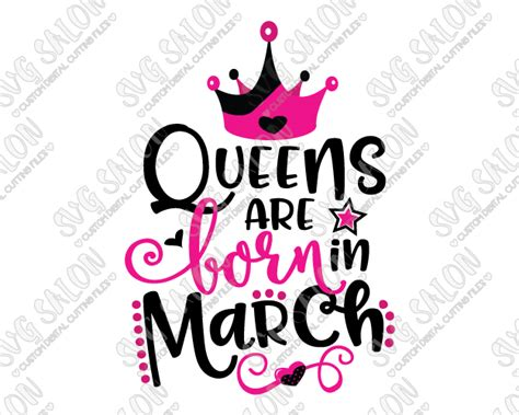 Toilet Mug by Queens Are Born In March Birthday Svg Cut File Set For