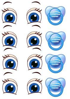 printable eye stickers print your own eye stickers template pack por