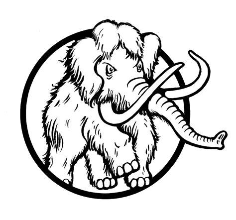 Tshirt Mammut Hitam illustrazione gratis mammut elefante forte immagine
