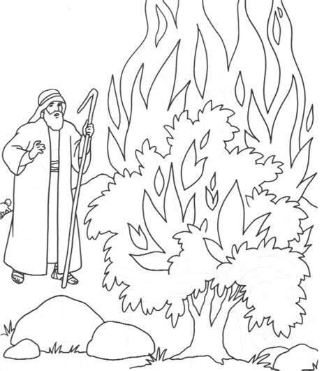 free bible coloring pages moses the call of moses colouring pages moses