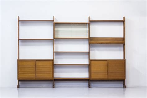 sectioned teak bookshelf from string ab 1968 for