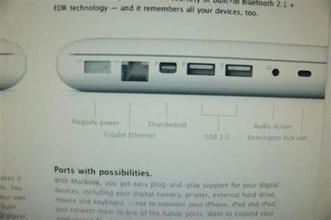 porta thunderbolt anche il macbook bianco avr 224 una porta thunderbolt