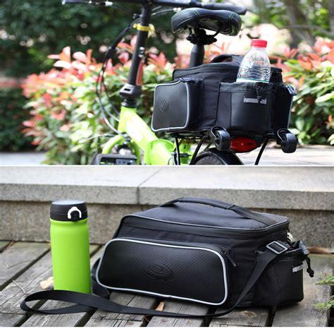 Tas Carrier Sepeda roswheel sepeda merobek tahan belakang tas carrier hitam