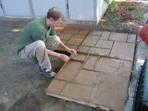 do it yourself cement patio