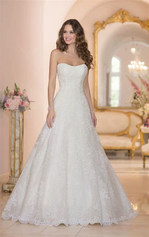 organza plain white wedding dresses lace tulle organza wedding dresses stella york