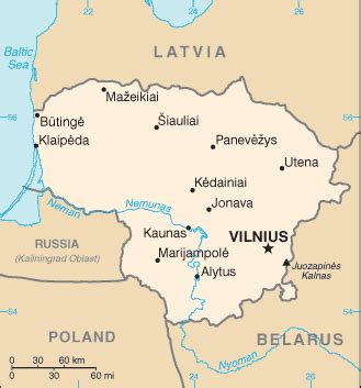 lithuania on the world map geographyiq world atlas europe map of lithuania