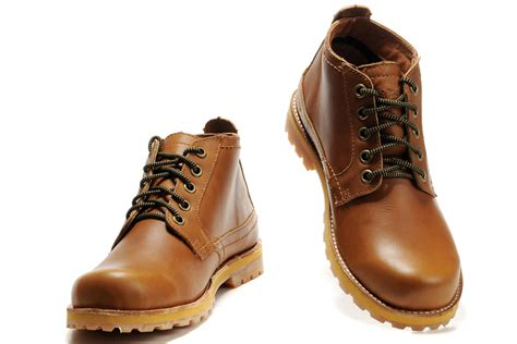 timberland leather work boots s darkorange