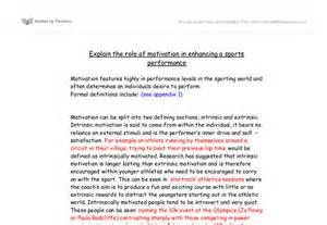 Physical Education Essays by Motivation Essay A Level Physical Education Sport Coaching Marked By Teachers