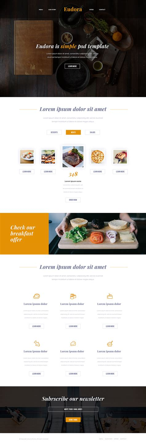 templates for restaurant website free download modern restaurant website free psd template download