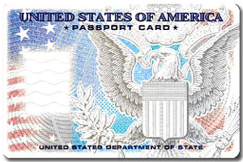 american id card template passport card facts
