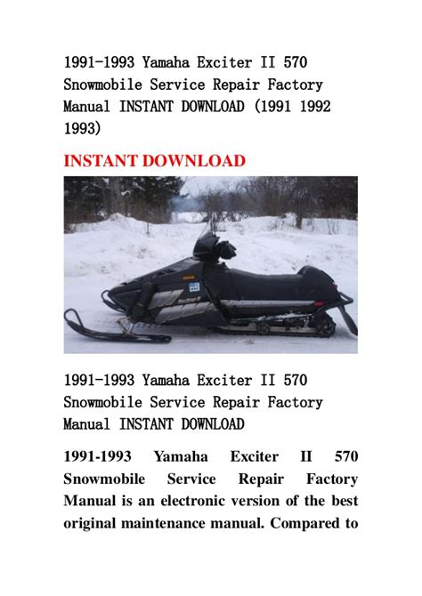 service manual free download to repair a 1993 toyota 4runner toyota 4runner 42px image 11 1991 1993 yamaha exciter ii 570 snowmobile service repair factory man