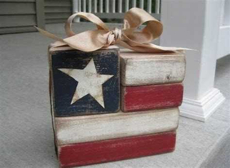 paper bag crafts for adults patriotic crafts for adults wood blocks flag craft by